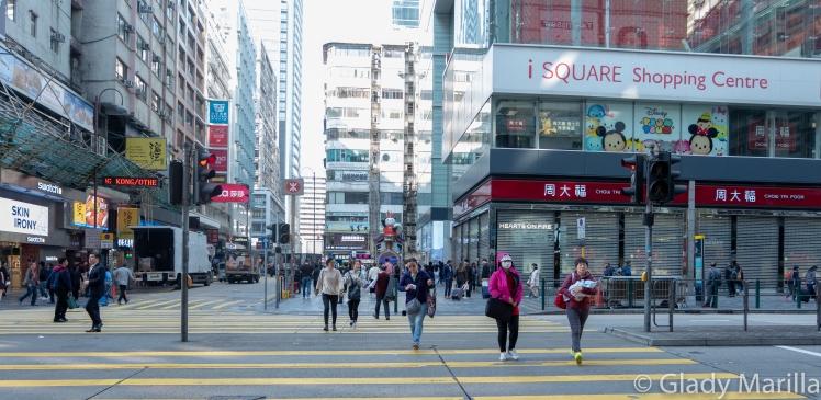 Hong Kong Street Pedestrian